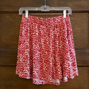 H&M Flare Skirt in Orange Splatter Print Size S
